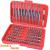 Extol behajtó klt. 98 db Cr.V., lapos:3-7mm, PH0-3, PZ0-3, HEX 1,5-6mm, T és TTa 8-40, hosszú bitekkel is 8819649