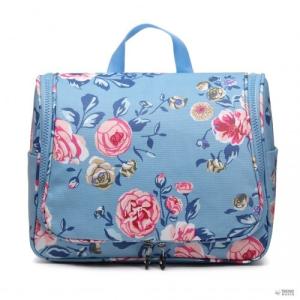 Miss Lulu London LT1757-17F BE - Miss Lulu try utazó táska Flower Print kék