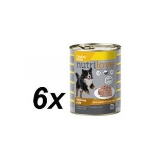 Nutrilove Dog pástétom CHICKEN 6 x 800g