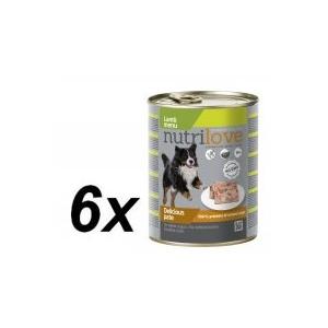 Nutrilove dog paté LAMB Kutyatáp - 6x800g