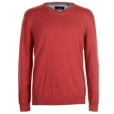 Pierre Cardin V Neck férfi pulóver - Pierre Cardin C V Neck Knit Red