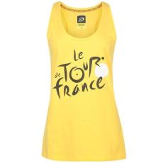 TDF női ujjatlan felső - TDF Large Logo Vest Yellow