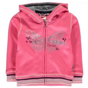Lee Cooper Lee Cooper kisgyermek cipzáras pulóver - Lee Cooper Glitzy Zipped Sweater Infant Girls