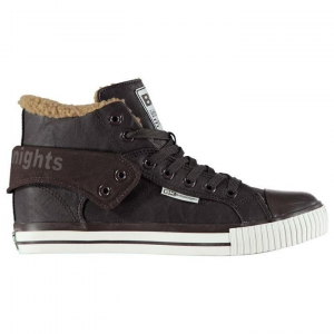 British Knights British Knights férfi cipő - British Knights Roco Fur Hi Top Shoe Mens Dark Brown