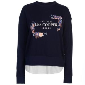 Lee Cooper Lee Cooper női pulóver - Lee Cooper Layer Logo Sweater Ladies Navy