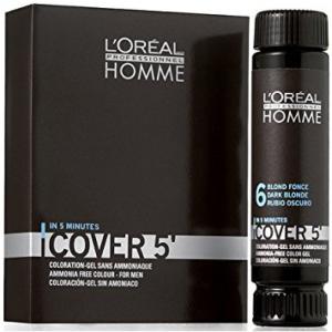 Loreal Professionnel Homme -COVER 5- színező zselé - 6 - SÖTÉTSZŐKE 3x50 ml