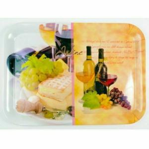 """egyéb Tálca """"bor-sajt"""" 38x28 cm 11099"""