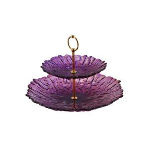 Walther Glass 16209 Crafts lila emeletes kínálótál