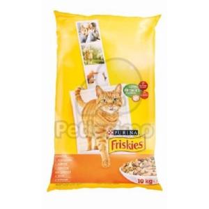 Friskies száraz macskaeledel - csirkével és hozzáadott zöldségekkel 10 kg