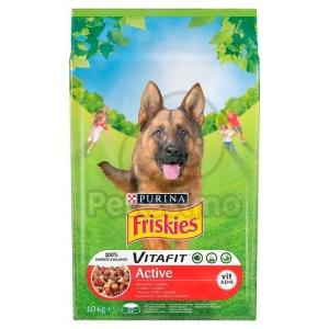 Friskies száraz kutyaeledel - Active marhával 10 kg