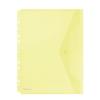Nebuló Irattartó tasak, A4, PP, patentos, lefűzhető, DONAU, sárga