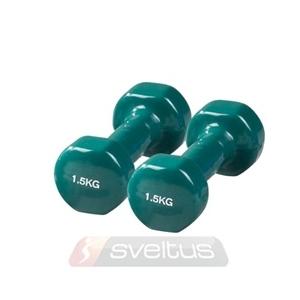 Kézisúlyzó pár PVC bevonattal 1,5 kg fitneszsúlyzó
