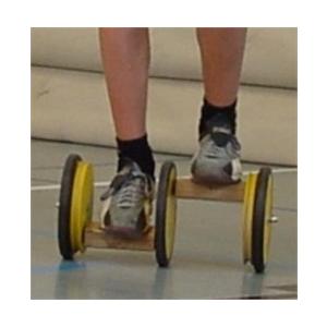 Pedalo-Slalom, fekete kerekekkel