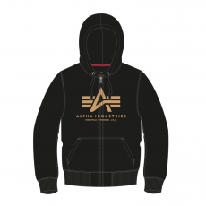 Alpha Indsutries Basic Zip Hoody - black/gold