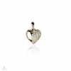 Fehér arany szív medál - F96-9238-PE