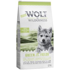 Wolf of Wilderness 2x12kg Little Wolf of Wilderness Junior - Green Fields - bárány száraz kölyökkutyatáp