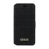 Guess iPhone 6 Plus/7 Plus/8 Plus Croco oldalra nyíló tok, matt fekete