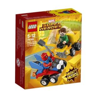 LEGO Super Heroes Skarlát Pók és Homokember összecsapása 76089