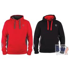 Foxrage RIBBED HOODY Piros - Fekete kapucnis pulóver