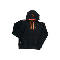 FOX Fekete- Narancs Kapucnis pulóver S