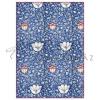 Pentart Dekupázs rizspapír A4 - Kék arabeszk virágokkal