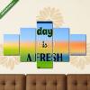 Képáruház.hu Premium Kollekció: Inspirational quote on blurred colorful background. Every day is(135x70 cm, S01 Többrészes Vászonkép)
