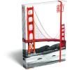 LizzyCard Füzetbox A/5 GEO City San Francisco 17262907