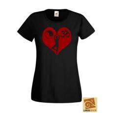 Szívben Om, Yin Yang, Medítáció női póló