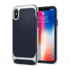 Spigen Neo Hybrid Apple iPhone X Satin Silver hátlap tok