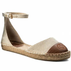 Tory Burch Espadrilles TORY BURCH - Color Block Ankle-Strap Espadrille 47027 Perfect Sand/Perfect Cuoio 241