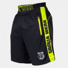 GORILLA WEAR Shelby Shorts - Black/Neon Lime M