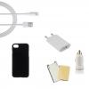 Indulócsomag EXTRA, Apple iPhone 6 Plus / 6S Plus, fekete szilikon tokkal