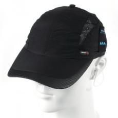 Univerzális bluetooth-os baseball sapka, sztereó fülhallgatóval, légáteresztővel, fekete