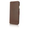 Cerruti 1881 iPhone 6/6S Smooth Split Leather oldalra nyíló tok, barna
