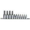 """Genius Tools ribe bit készlet crowa foglalatban, 3/8"""" és 1/2"""", 11 darabos"""