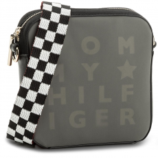 Tommy Hilfiger Táska TOMMY HILFIGER - Logo Story Crossover Transparent AW0AW05253 002