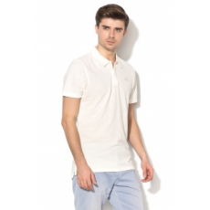 Pepe Jeans London , William Slim Fit piké galléros póló, törtfehér, XL (PM540930-807-XL)