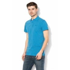 Blend , Slim fit galléros póló, Kék, XL (20704970-74632-XL)