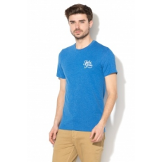 Jack Jones Jack&Jones, Galions slim fit póló, Melange kék, XXL (12135965-NAUTICAL-BLUE-XXL)