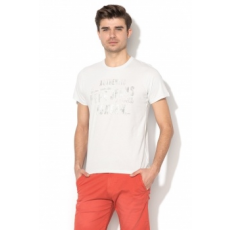 Pepe Jeans London , Custard Slim Fit mintás póló, Halványkék, XL (PM503542-912-XL)