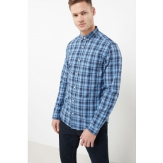 Next , Regular fit kockás ing, Kék, XXXL (174199-BLUE-XXXL)