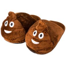 HappyFace: kaki emoji papucs - gyerek méret