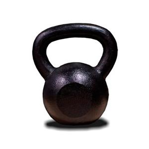 Capetan® 16Kg Vas Kettlebell fekete festéssel - harang súly 16Kg