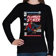 PRINTFASHION Plumber Skater - Női pulóver - Fekete