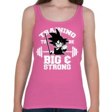 PRINTFASHION Trainging to be be and strong - Női atléta - Rózsaszín