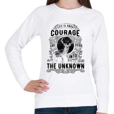 PRINTFASHION Bátorság - Női pulóver - Fehér