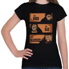 PRINTFASHION A jó, a rossz és Maurice - Női póló - Fekete