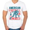 PRINTFASHION Amerikai foci - Férfi V-nyakú póló - Fehér