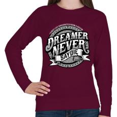 PRINTFASHION Az álmodozók - Női pulóver - Bordó