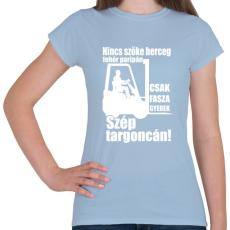 PRINTFASHION Targoncás - Női póló - Világoskék